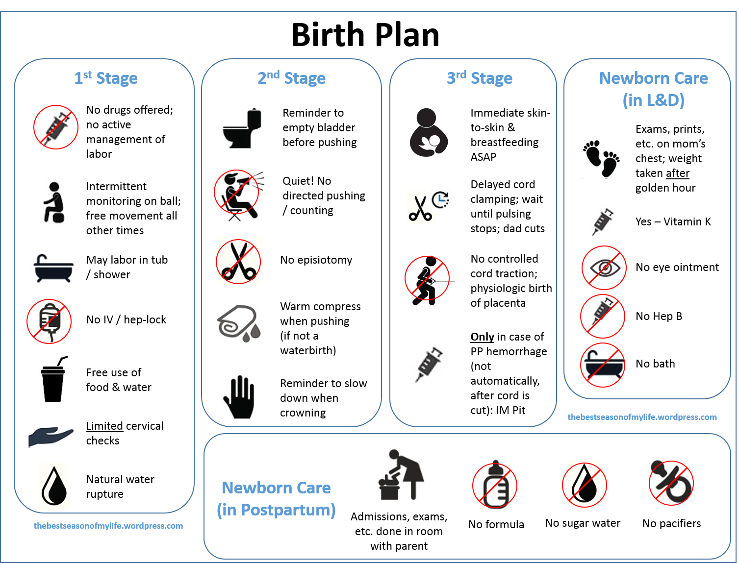 Simple Birth Plan Template