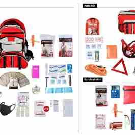 Emergency Preparedness Kit List Items Package - Deluxe Survival Kit Auto Kit Survival Mini Kit