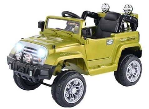 remote control cars for toddlers to ride in green jeep is very strong for off roads