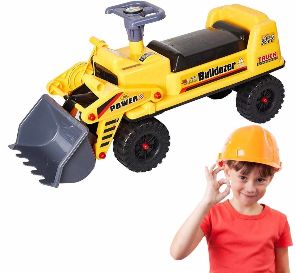 Dporticus Children Large Toy Pedal Bulldozer