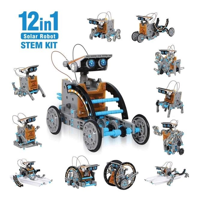 solar powered toy robot kits
