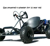 gas powered 4 wheeler for 12 year old