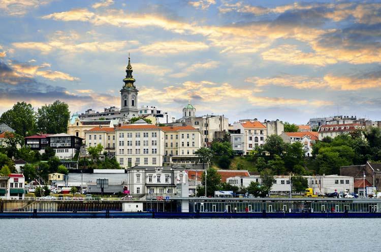 Belgrade from Danube River, Serbia