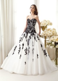30 Ideas of Beautiful Black and White Wedding Dresses ...