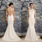 Halter Low-Back Mermaid Wedding Dress
