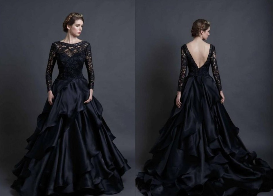 Black Wedding Dresses: Review Of Mona Lisa Wedding Gown By