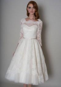 27 Inspiring Ideas of Tea Length Wedding Dresses