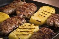 Grilled Sausage And Sliced Polenta