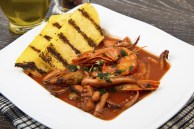 Fish Soup With Grilled Polenta