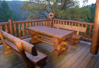 Outdoor Log Furniture Ideas | TheBestWoodFurniture.com