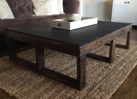 Dark Wood Pallet Coffee Table for Living Room ...