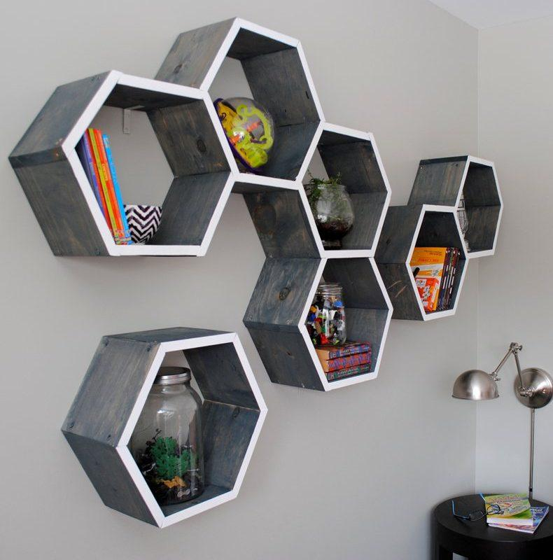 nice living room color wooden furniture designs shape shelves with geometric ...