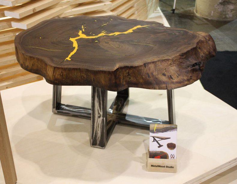 metal legs for wood slab table