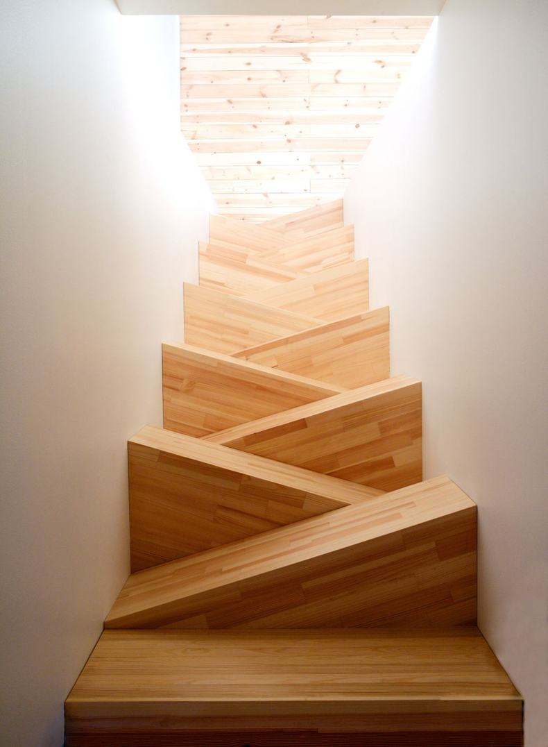 Alternating Small Stair Treads  TheBestWoodFurniturecom