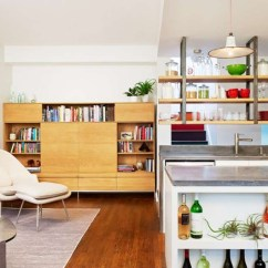 How To Decorate Living Room Wall Shelves French Cottage Kitchen Island With Hanging Above ...