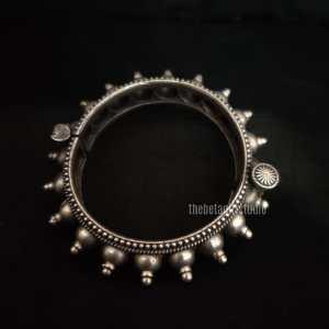 Round spiked Silver Look Alike Kada