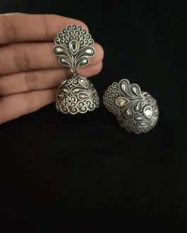 Handworked Jhumka with stone
