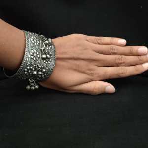 Ghungroo Silver Look Alike Bracelet