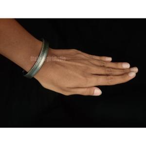 Simple Unisex Silver Look Alike Bracelet