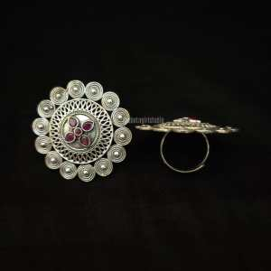 Traditional Silver Look Alike Ring