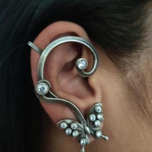 Butterfly Silver Look Alike Earcuff