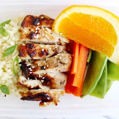 Sesame Ginger Chicken Meal Prep Bowls