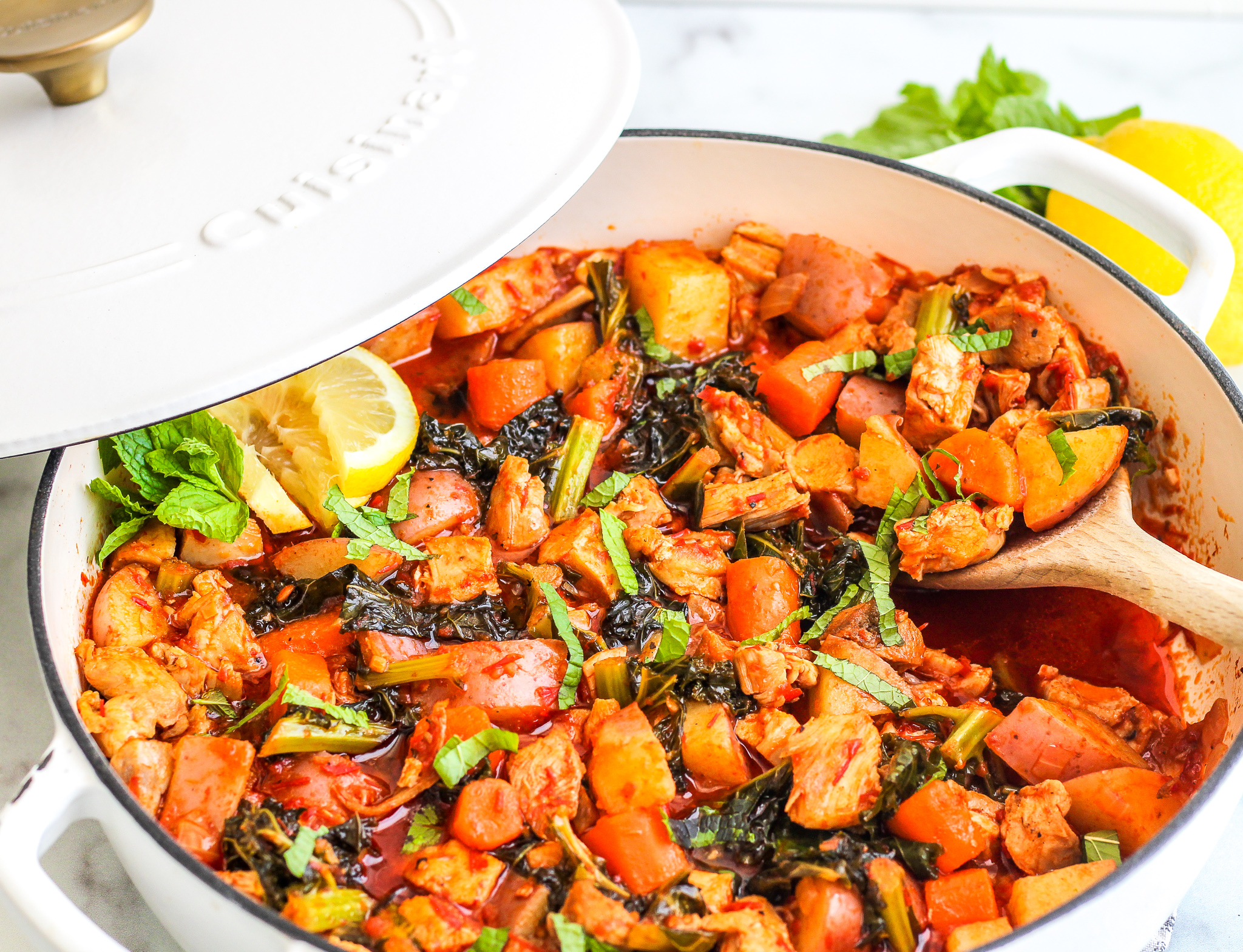 One Pan Moroccan Chicken and Veggies