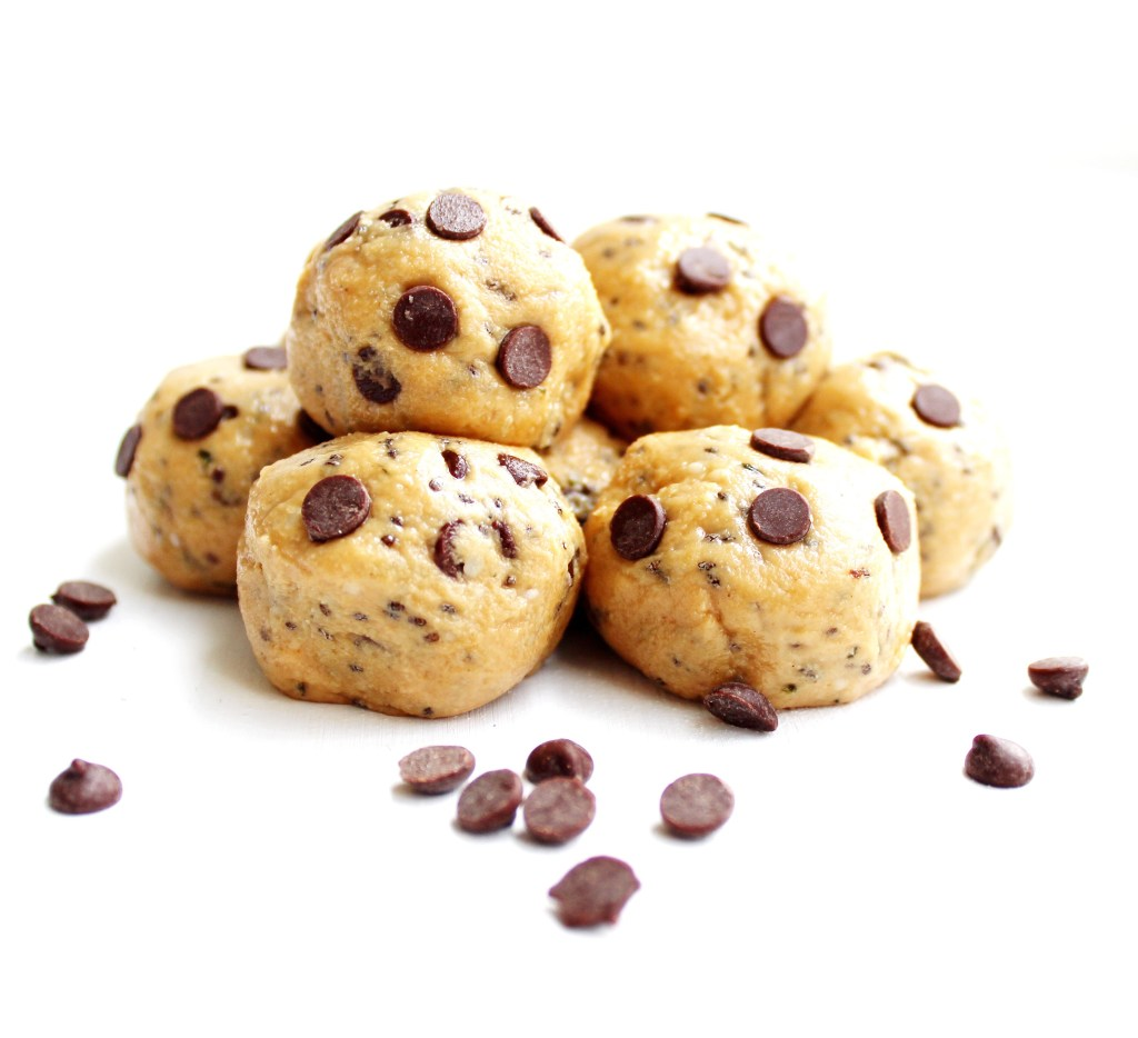 cookie dough bites with chocolate chips