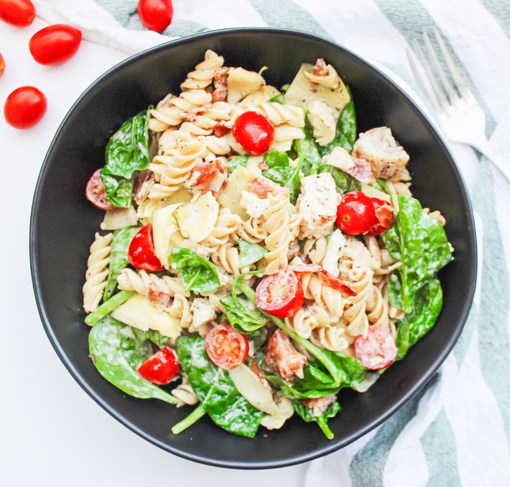 Chicken, Bacon & Artichoke Pasta Salad