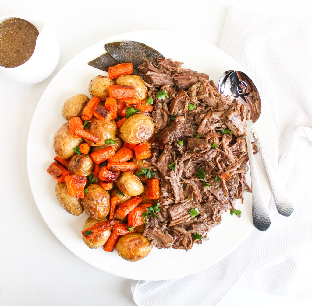 Perfect Pot Roast with Veggies and Gravy