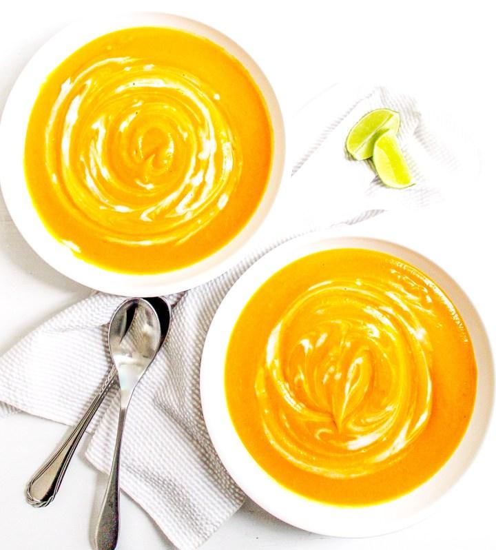 Instant Pot Curried Carrot & Butternut Squash Soup