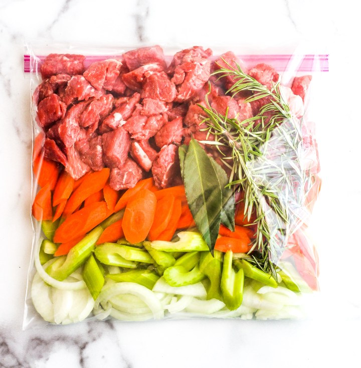 Paleo Beef Stew Freezer Meal