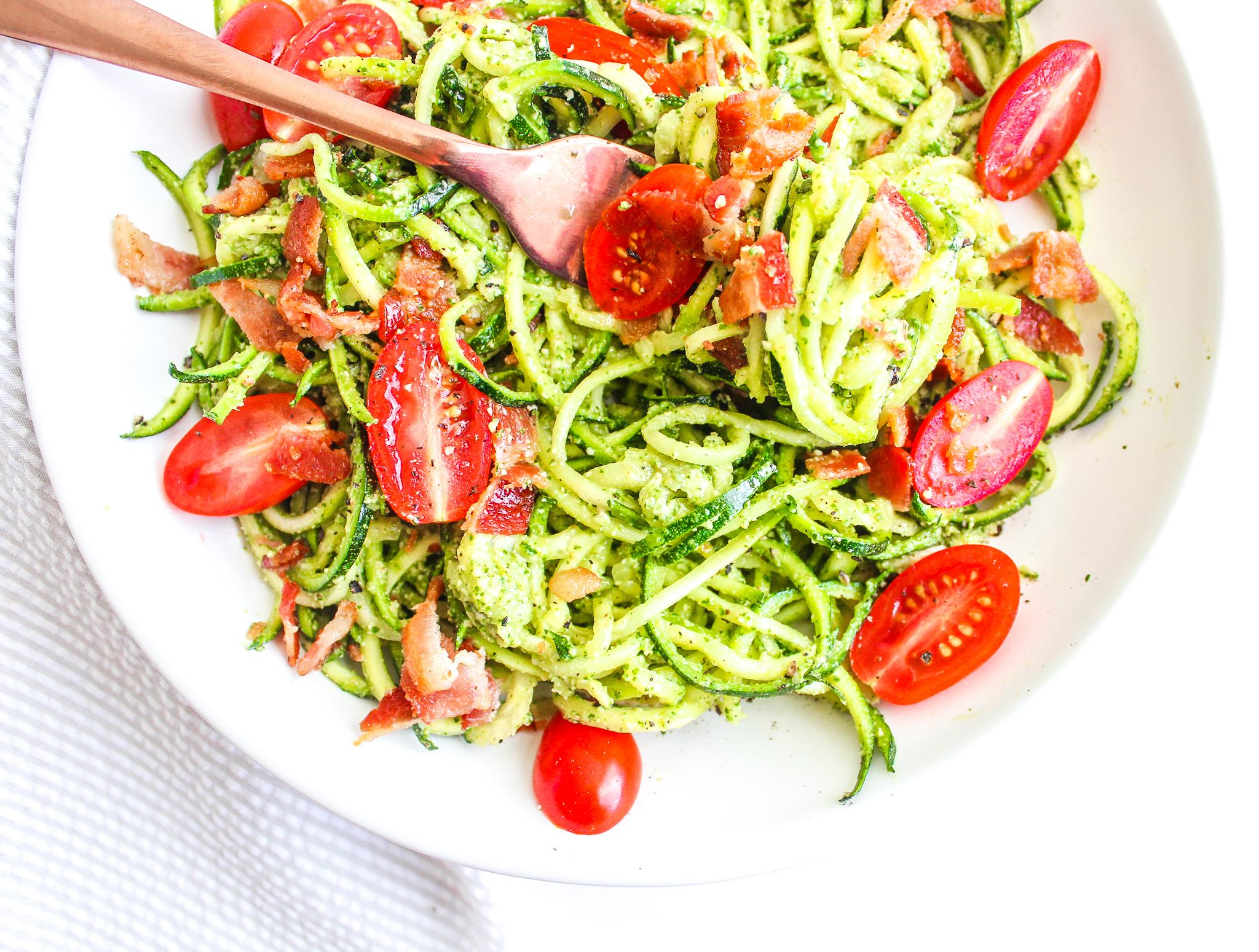 BLT Zoodle Salad