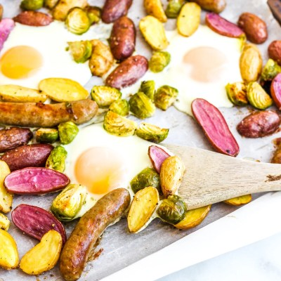Sausage & Egg Breakfast Sheet Pan Meal