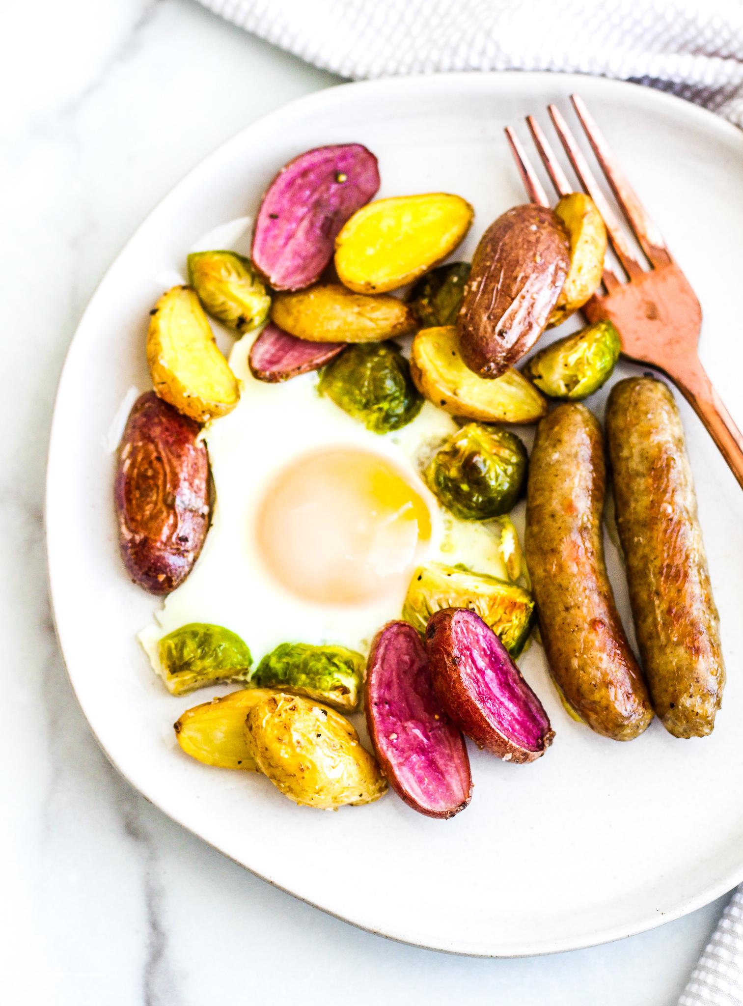 Sausage & Egg Breakfast Sheet Pan Meal