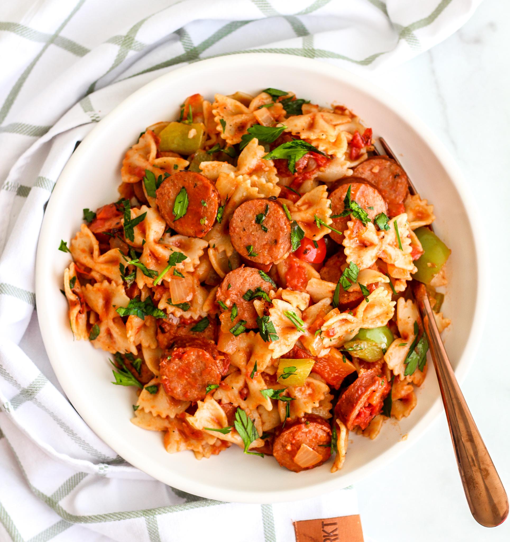 Easy Sausage & Pepper Pasta Skillet
