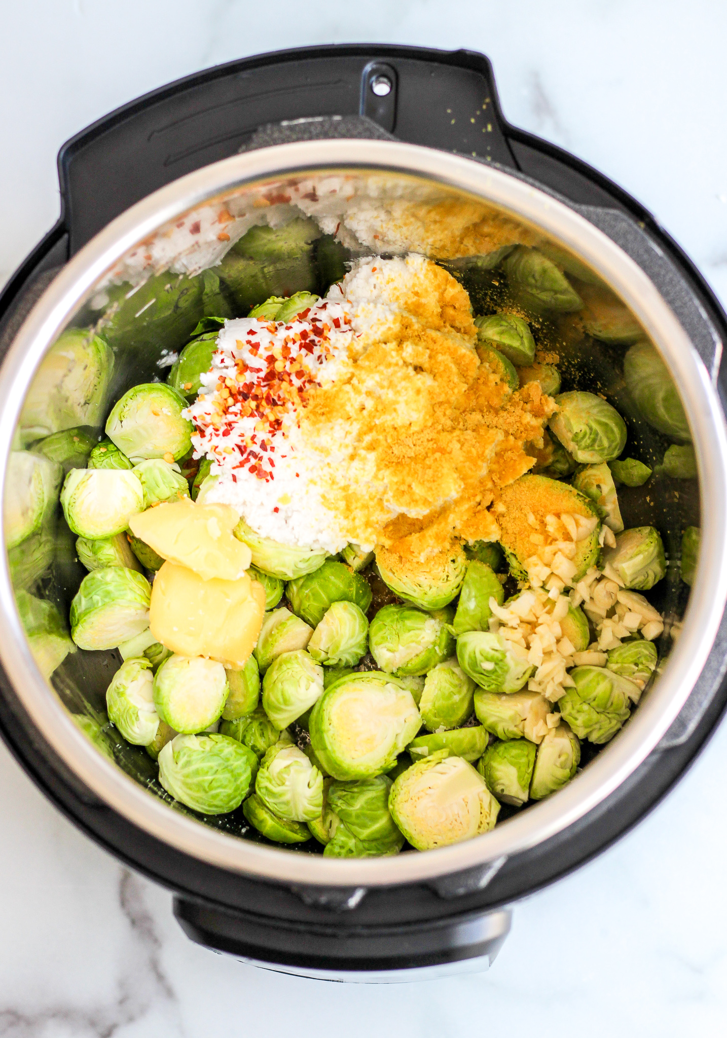 Creamy 'Cheesy' Instant Pot Brussels Sprouts