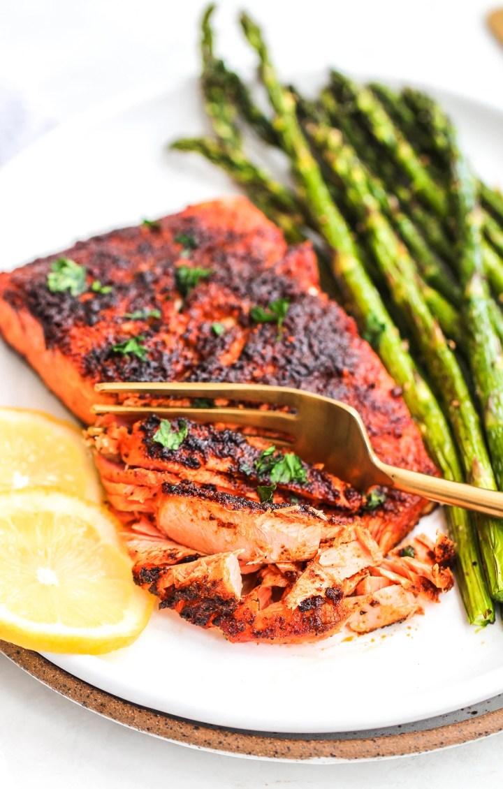 Air Fryer Blackened Salmon