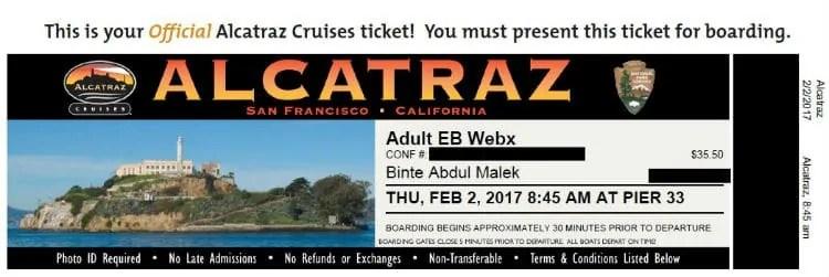 Alcatraz Island Tour Tickets