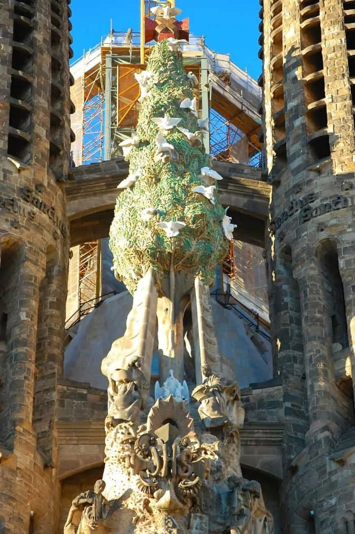 View from Nativity facade tower at Sagrada Familia