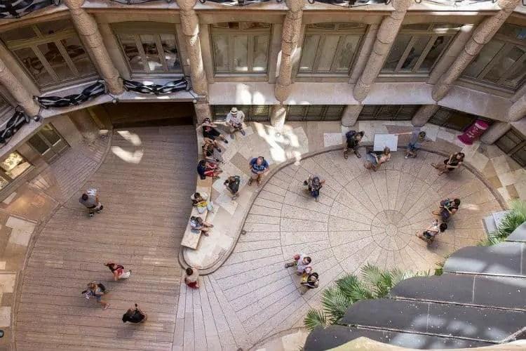 Courtyard inside Casa Mila