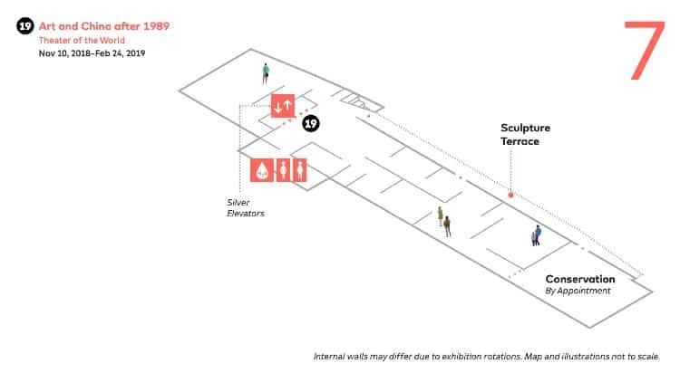 SFMoMA map - Seventh Floor