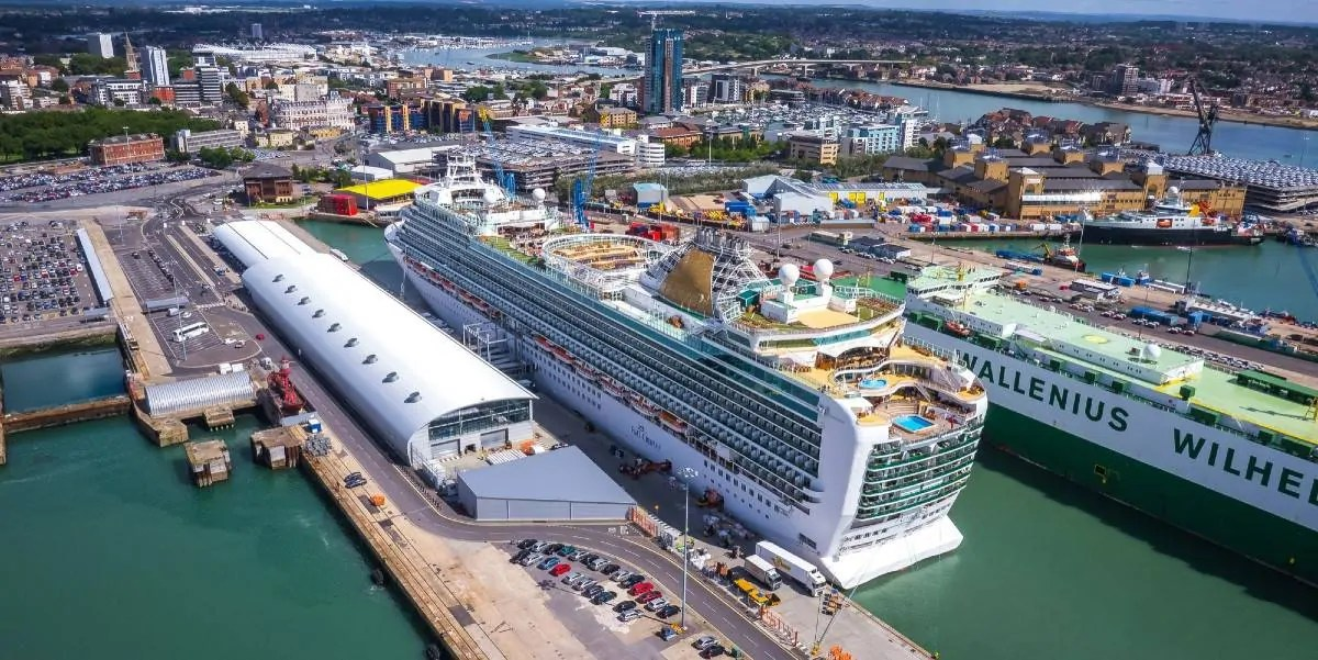 Cruises from cruise terminal in Southampton