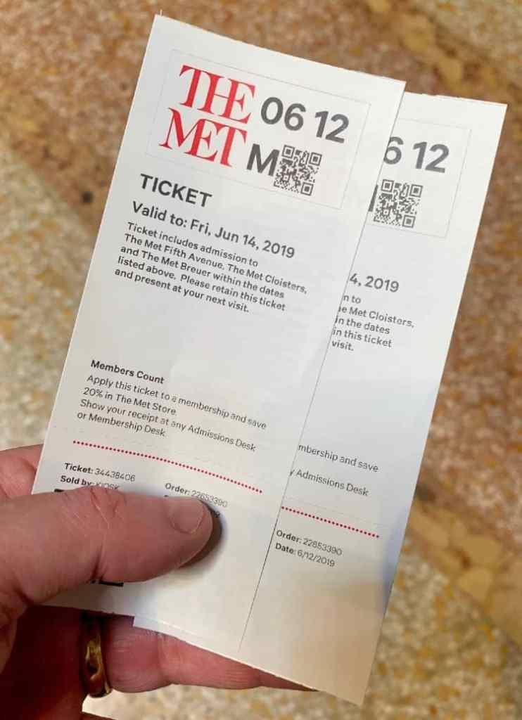 MET Museum tickets