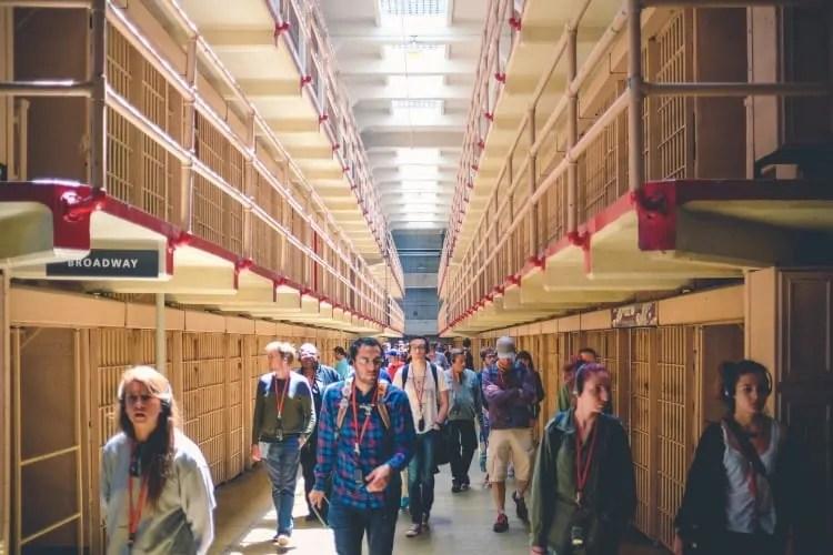 Cells inside Alcatraz Island