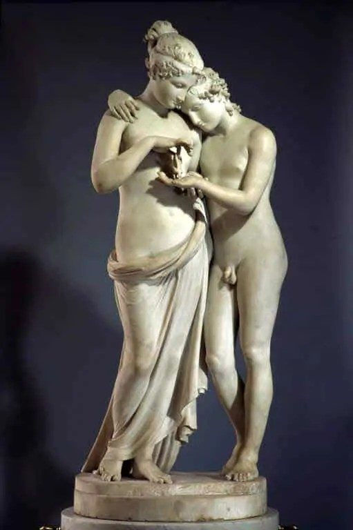 Cupid and Psyche at Louvre Museum