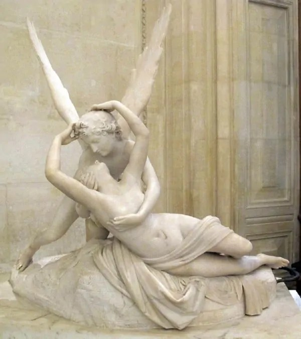 Psyche Revived by Cupid at Louvre Museum