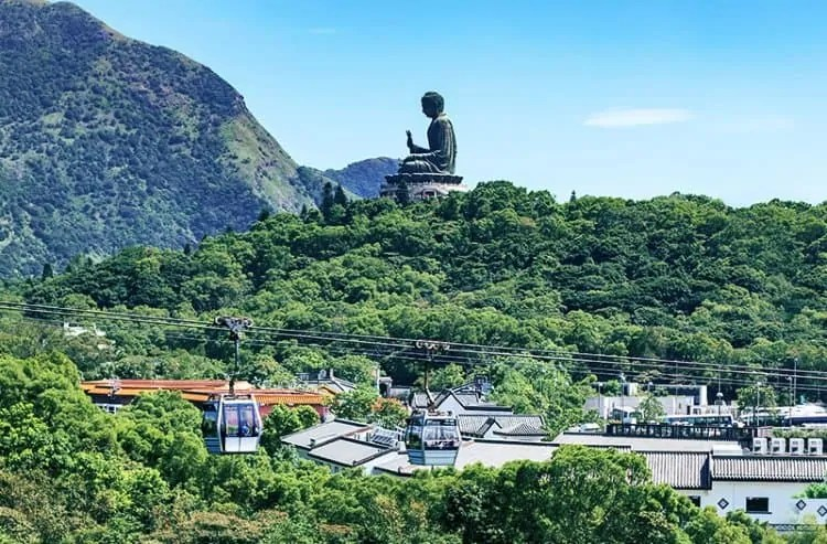 The Big Buddha near Ngong Ping 360