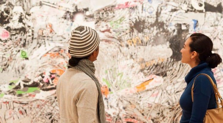 Visitors enjoy art at SFMOMA