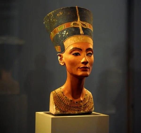 Nefertiti's bust at Neues Museum, Berlin